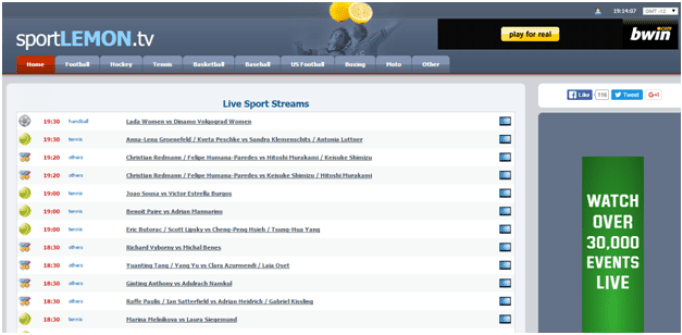 top free sports streaming websites