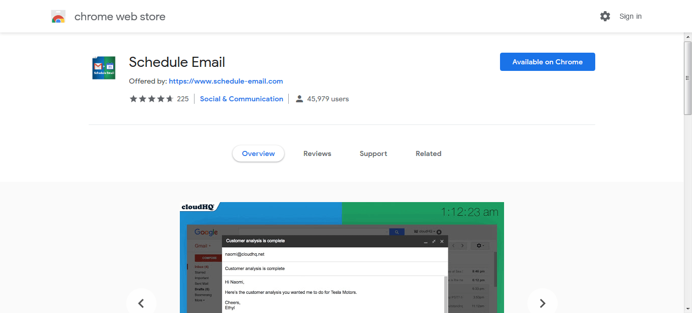 gmail send later