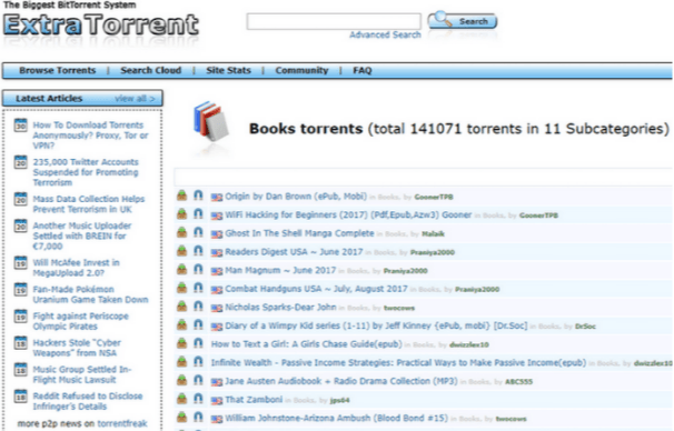 eBook Torrent Sites to Download Free Books
