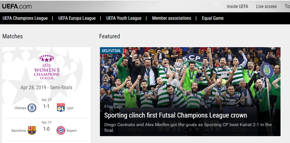UEFA.com - Watch Champions League Online