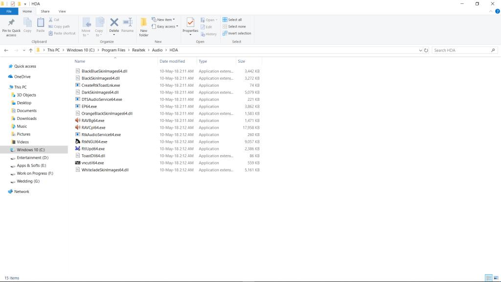 Realtek HD Audio Manager File Location
