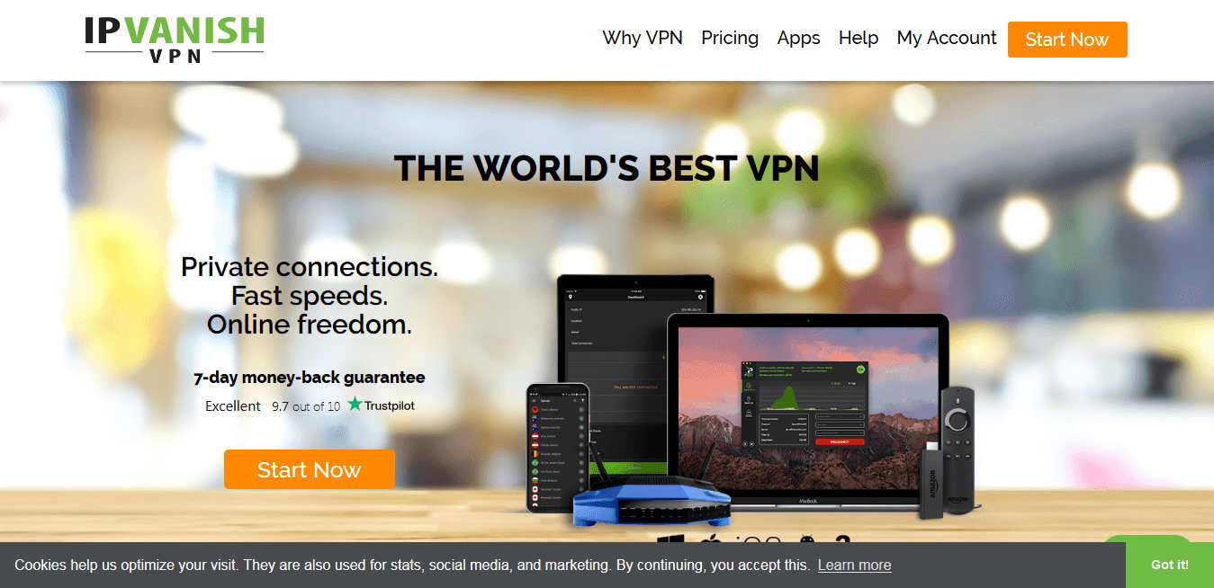 IPVanish VPNs for Mac