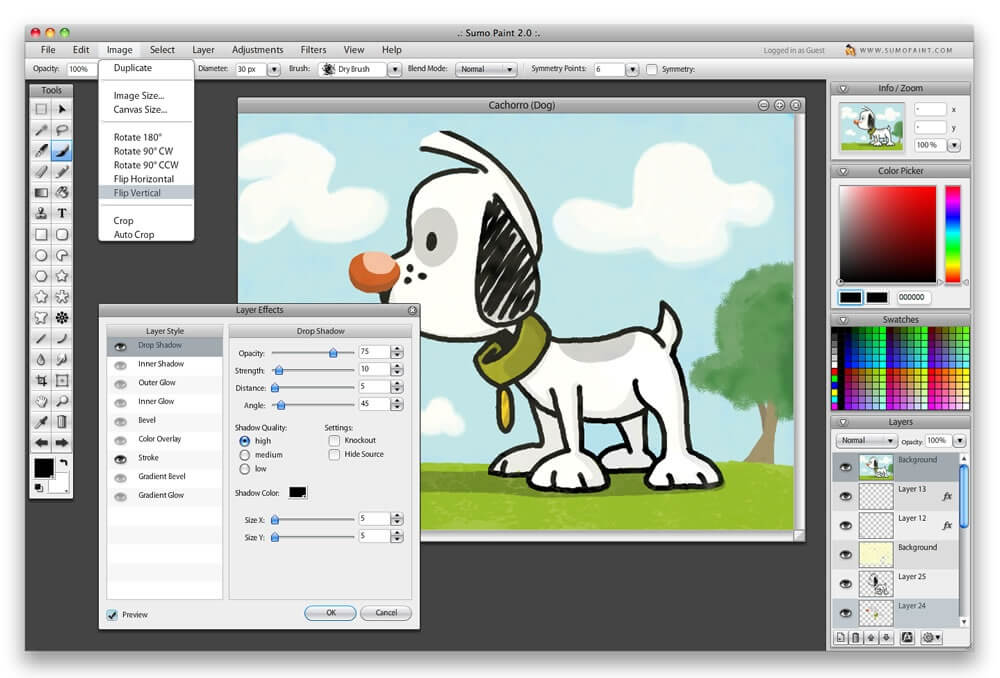 SumoPaint free alternatives to photoshop