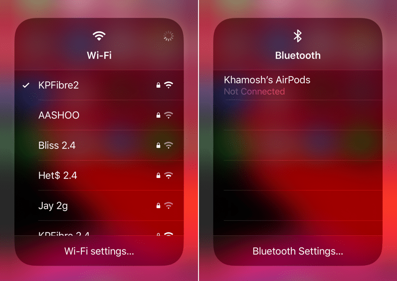 Wifi and Bluetooth
