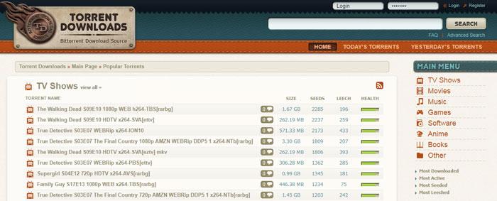 torrentdownloads - sites like 1337x