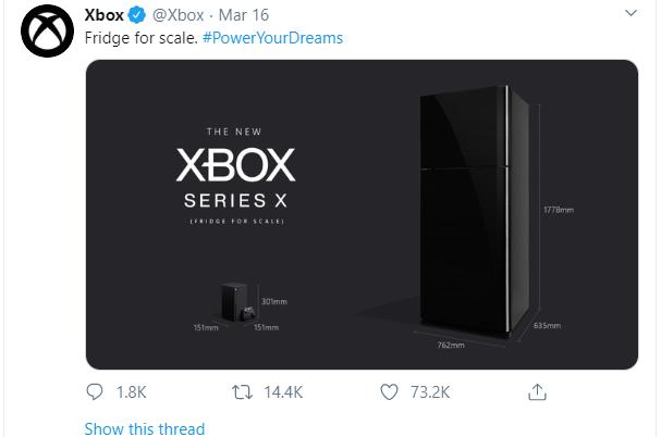 Xbox Seires X size