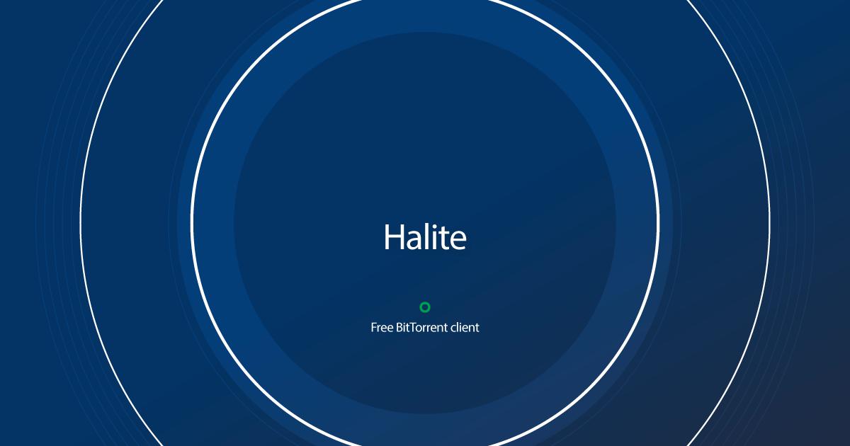 Halite -Torrent Client