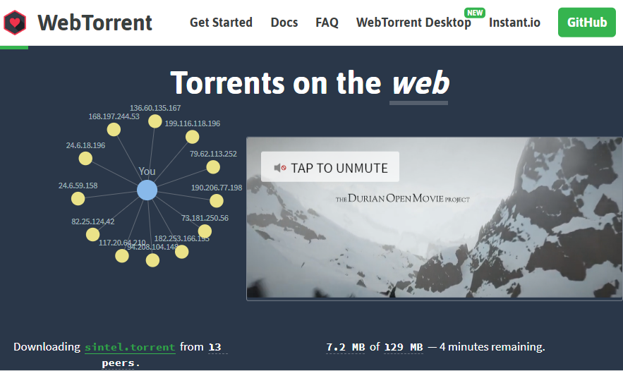 WebTorrent Client