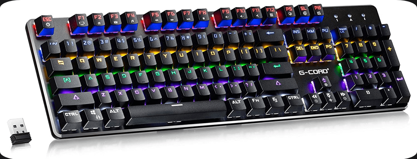 3. G-Cord Wireless- Best Gaming Office Keyboard