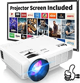 DR. J Professional HI-04 4500L Mini Projector