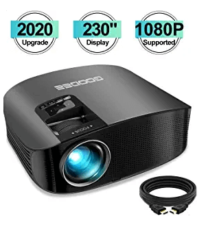 GooDee 2020 HD Video Projector Outdoor Movie Projector
