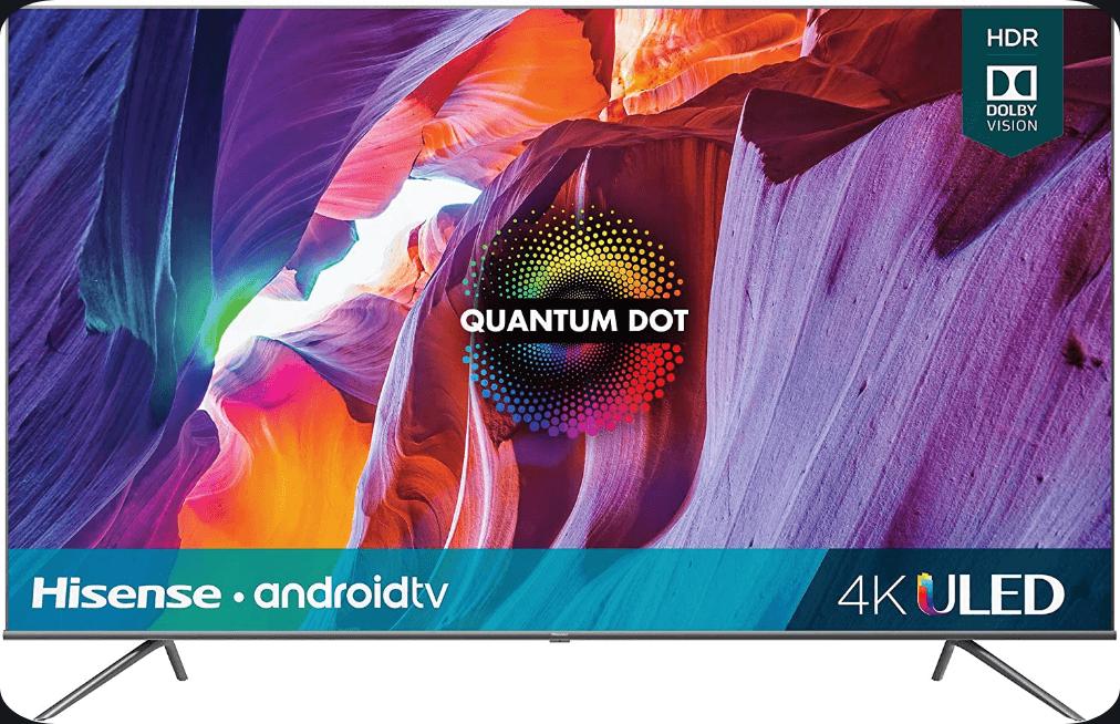Hisense 75-Inch Class H8 75H8G Quantum Series Budget friendly Android TV