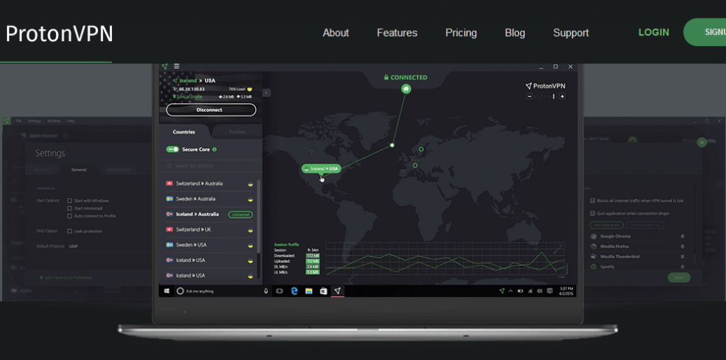 ProtonVPN Unlimited Data with Less Speed free VPN for firestick with unlimited data