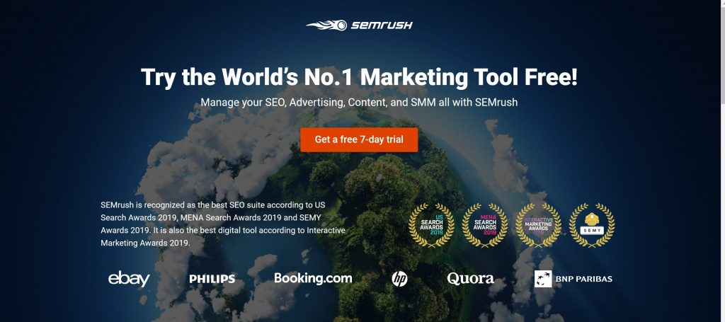 SEMRush All-in-one SEO Tool
