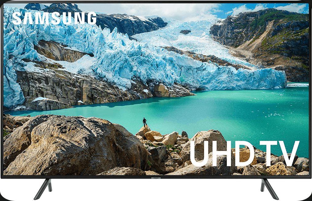 Samsung UN75RU7100FXZA Flat 75-inch 4K UHD number 2 in best 75-inch 4k TVs under $2000