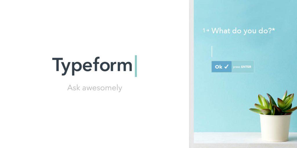 Typeforms form creator platform