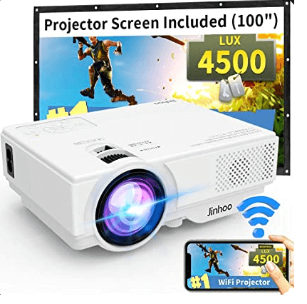 WiFi Mini Projector One of the 2020 Upgraded best projectors under $200