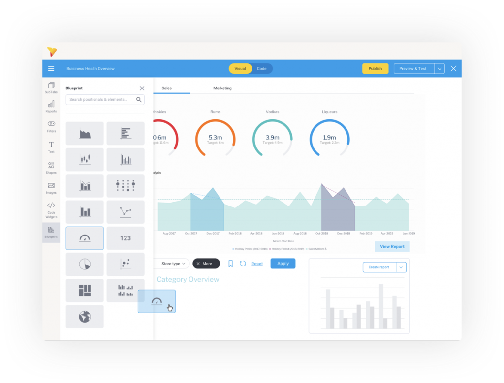 YellowFin BI tools and software