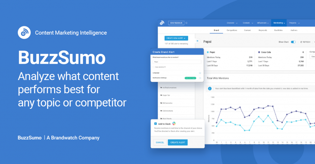 Buzzsumo tool for content generation