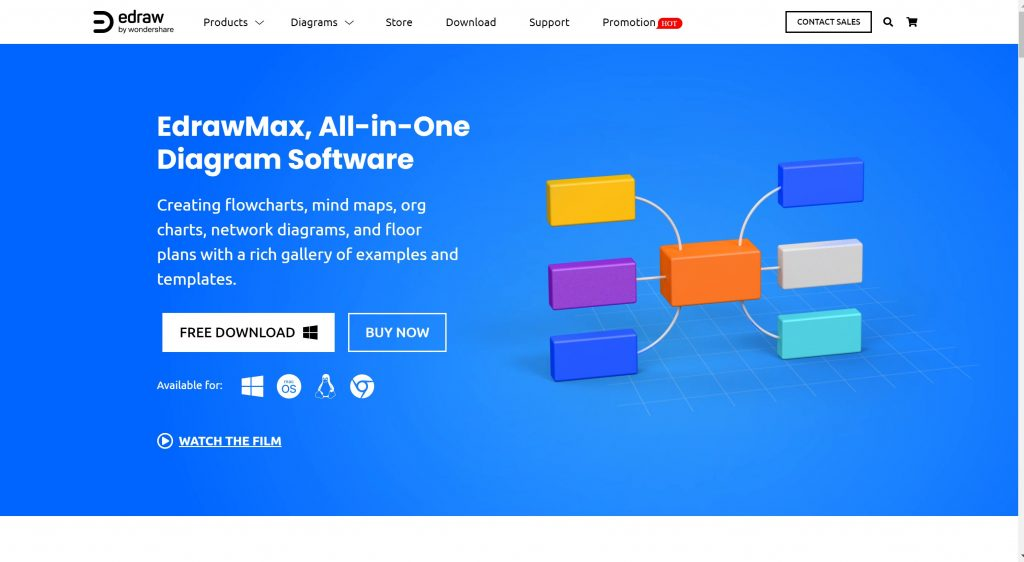 All-in-one diagramming software- EDraw Max