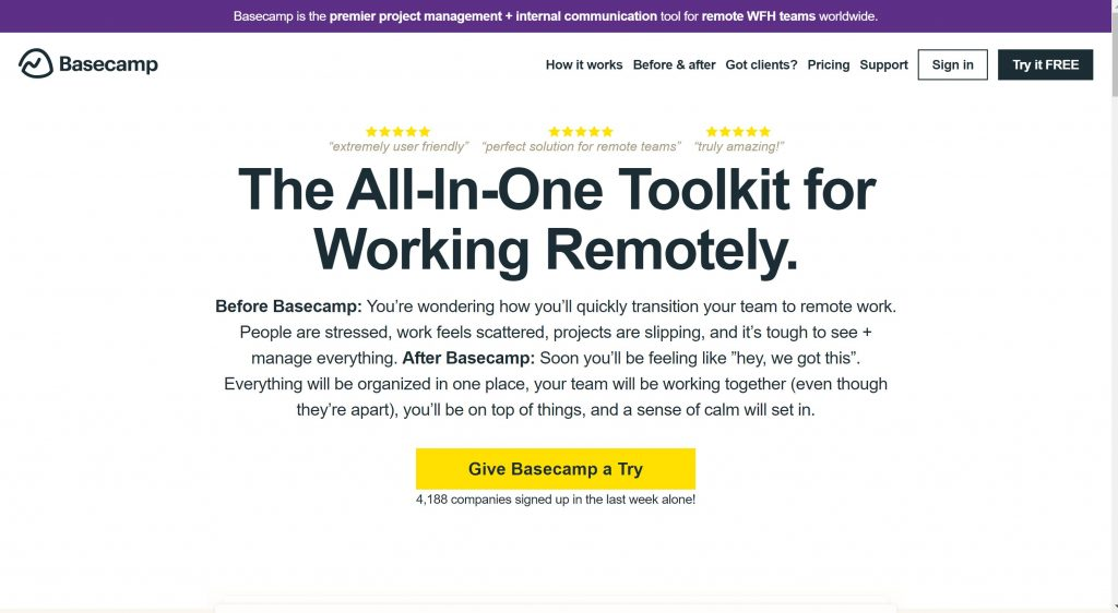 Basecamp- best project management tool]