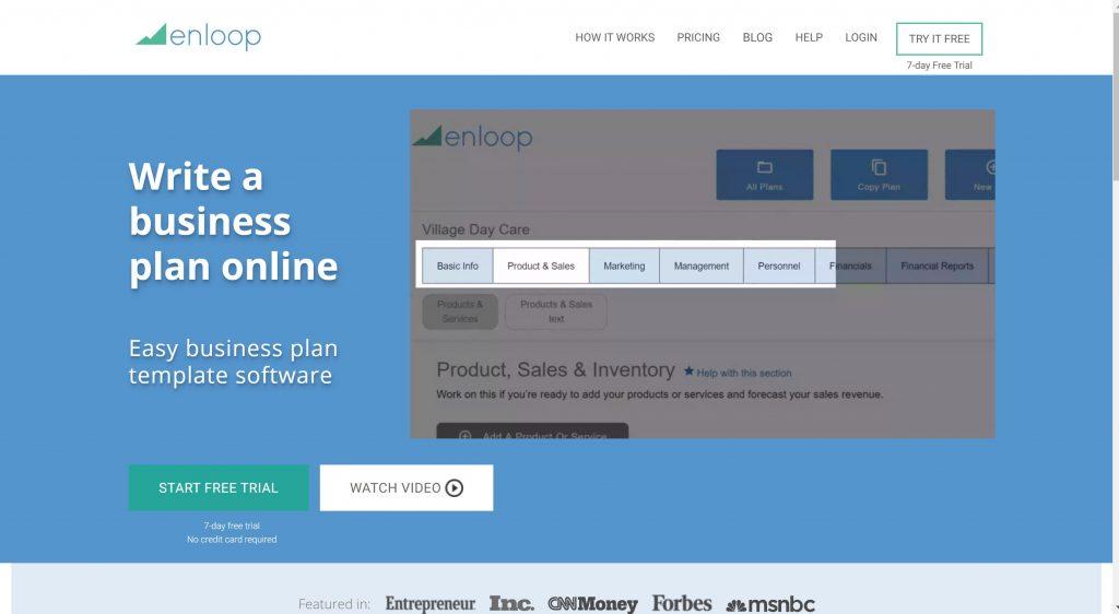 Business plan software Enloop