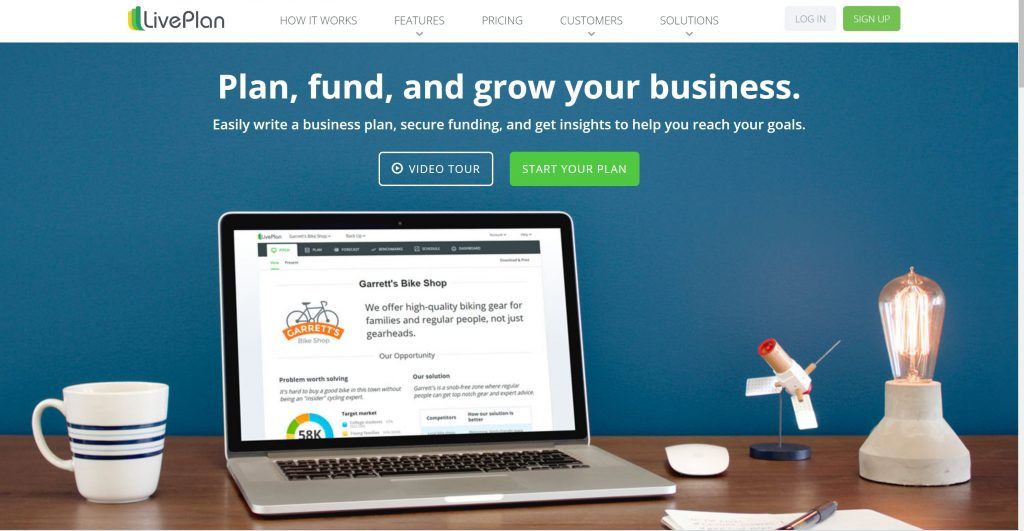 Business plan software- LivePlan