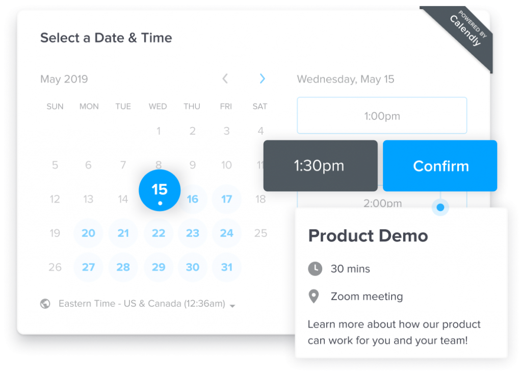 Calendly business tool for meetings