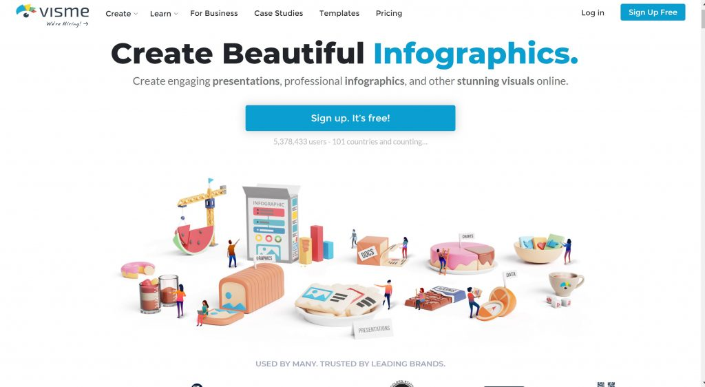 Free Infographic and flowchart maker- Visme