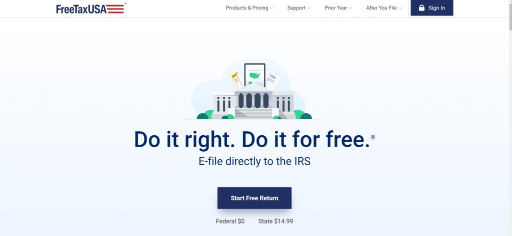 FreeTax USA software for tax filing