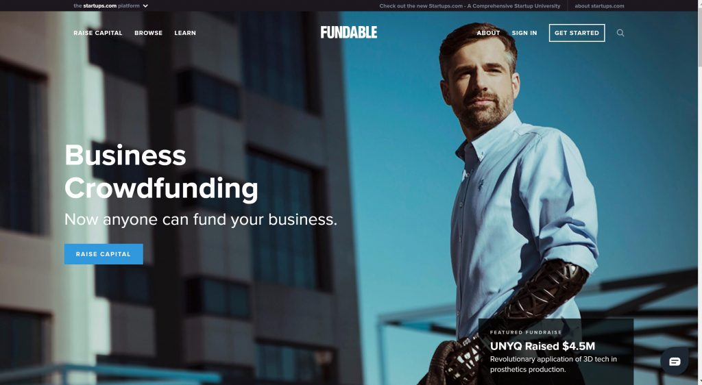Fundable crowdfunding for small businesses