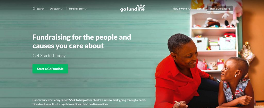 GoFundMe Crowdfunding platform