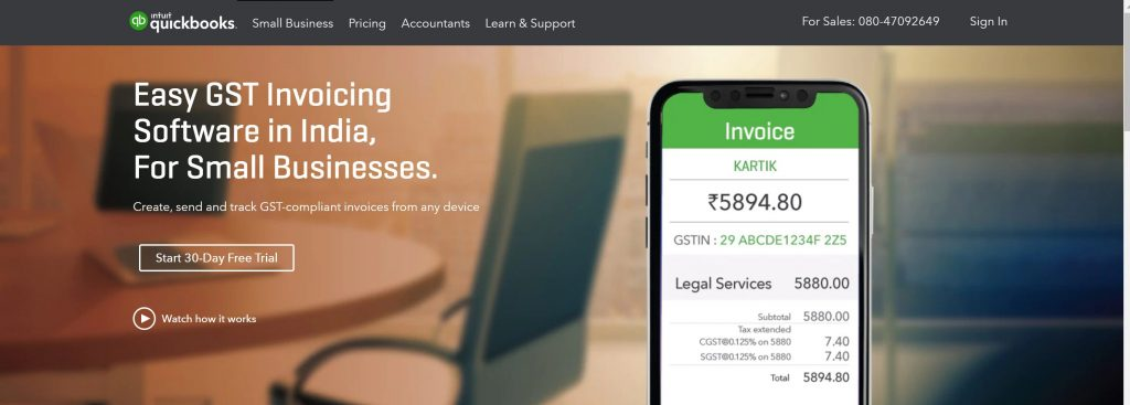 Intuit Quickbooks- small business accounting software