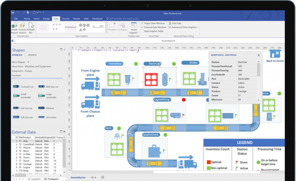 Microsoft visio for diagrams