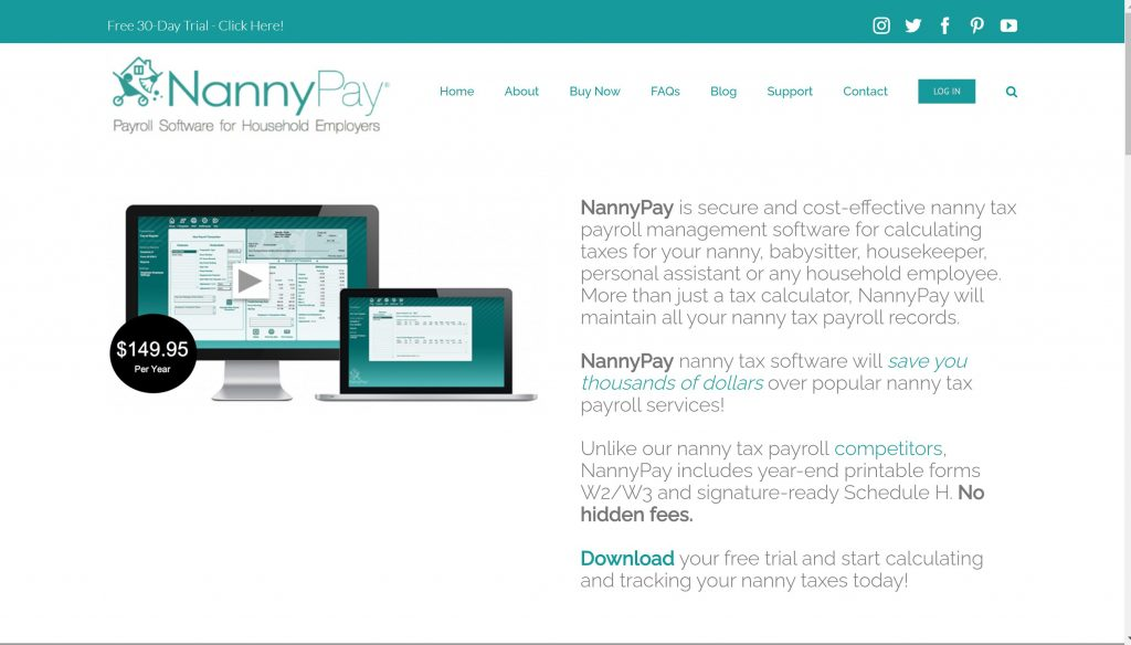 NannyPay household employer services