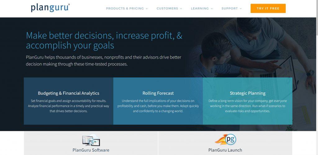 PlanGuru business budgeting and planning software