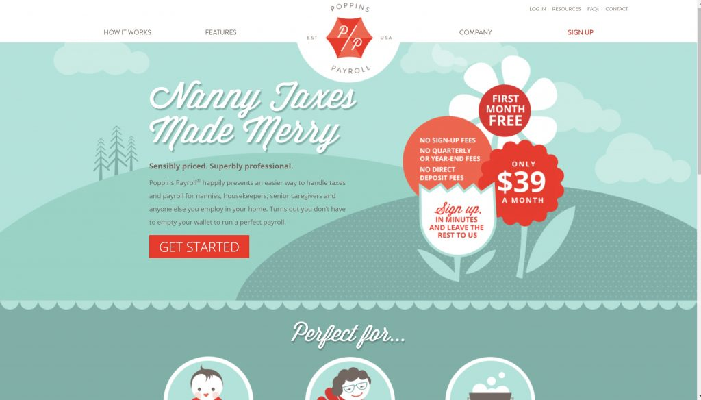 Poppins payroll services for nanny