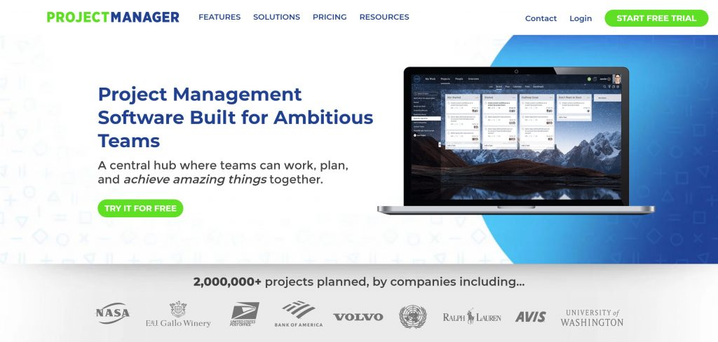 Project manager tool for teams
