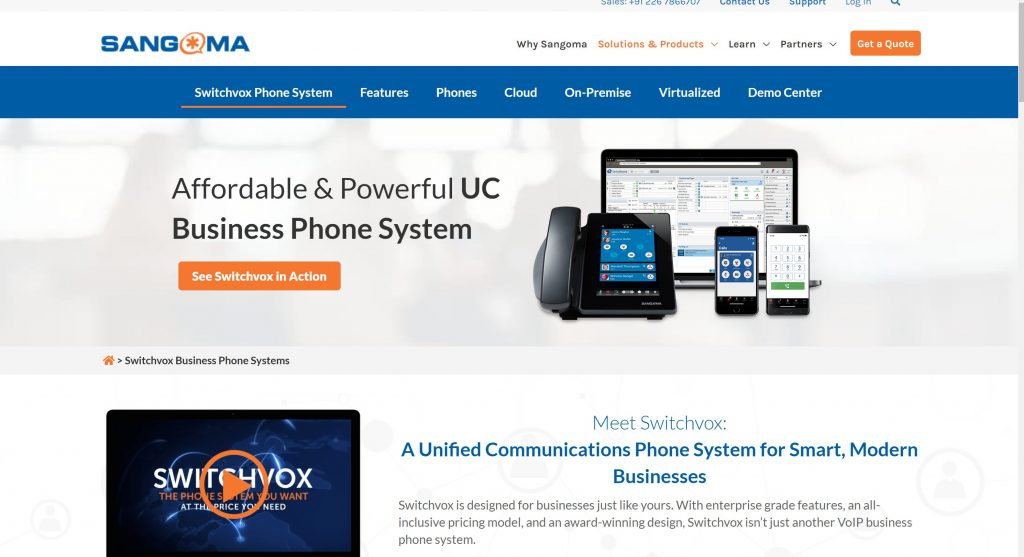 Switchvox VOIP business phone system