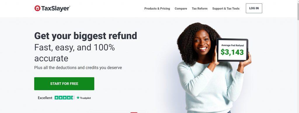 Taxslayer free tax software