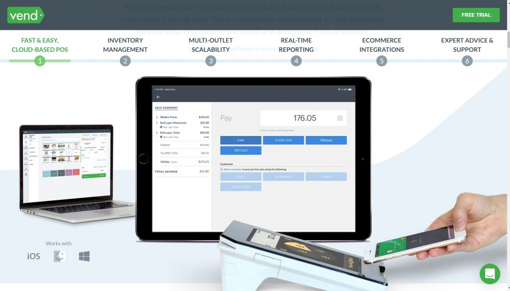 Vend Point of sale software