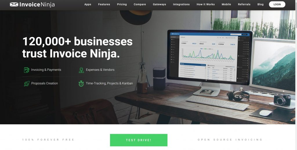 free billing software for small business- Invoice Ninja