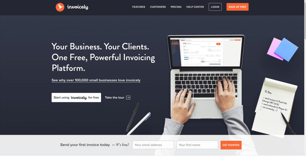 free online invoicing software for small business - invoicely