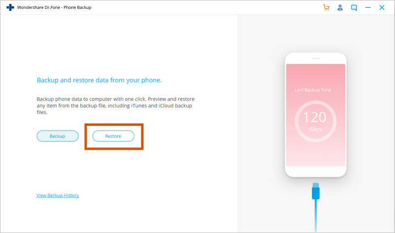 complete guide to restore iPhone from iCloud without resetting using Dr.Phone