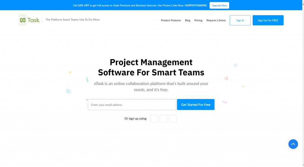 nTask project management software for small teams