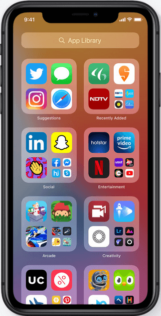 App Library in iOS 14