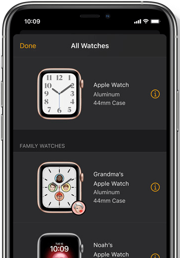 Apple family setup in Apple watch series 6