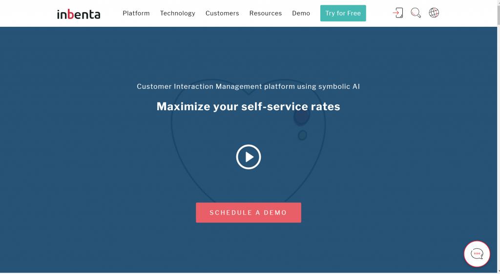 Artificial Intelligence Software for chatbot- Inbenta