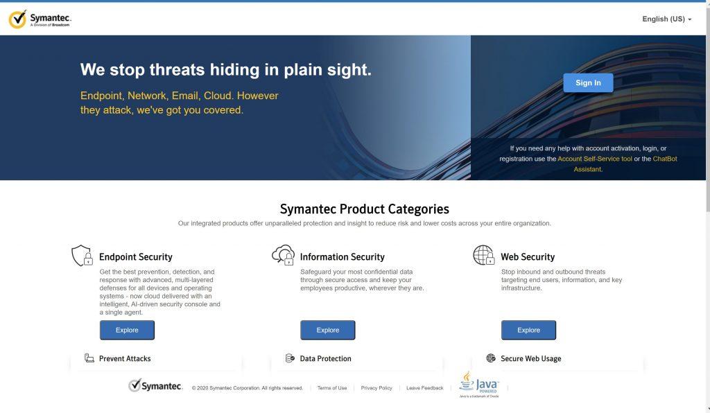 Best Cloud Antivirus- Symantec