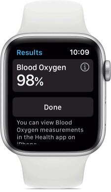 Blood oxygen tracking in Apple watch 6
